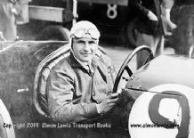 Riley Nine Brooklands. Photo.  Possiby R L Boote at the wheel,  Brooklands c.1929